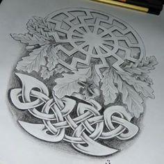 #татуировка #ескіз #язычество #sketch #tattoosketch #norse #slavic #celtic #nordic #родноверие #татуэскиз #татуэскизы #эскизназаказ #pagan