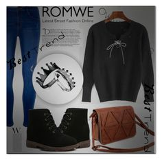"""""""#Romwe5"""" by miralemaa ❤ liked on Polyvore featuring Dorothy Perkins, Balmain and romwe"""