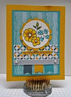 Georgia Giguere: Stampin' Georgia - Earn Free Stamps with Blendabilities Alcohol Markers! - 7/16/14  (SU: I Like You stamp)