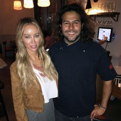Omar Allibhoy with Lauren Pope during her visit to Tapas Revolution Shoreditch