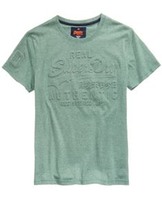 f7039a9f Superdry Men's Vintage Authentic Embossed-Logo T-Shirt - Green XL Superdry  Fashion,