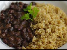 Receta Plato : Judías negras con quinoa y cebolla por Itzi