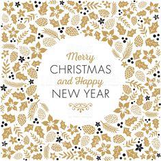 Christmas Frame - Illustration royalty-free stock vector art