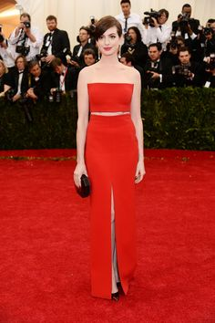 Anne Hathaway on our Met Gala Best Dressed list on Vogue.com.