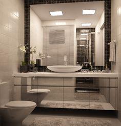 somente algumas pastilhas para decorar e economizar para por espelhos na porta e com isso ampliar o banheiro.....