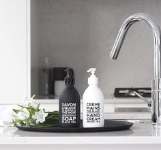 Black & White toiletries by Compagnie de Provence. pic The Design Chaser