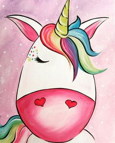 Unicorn Painting at Wine and Canvas on 6/25 @ 6:30pm