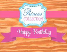 PRINCESS Party - RIBBON BANNER - Pink Princess Birthday