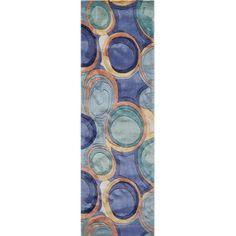 Momeni New Wave Watercolor Area Rug, Blue