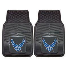 "US Air Force Armed Forces Heavy Duty 2-Piece Vinyl Car Mats (18x27"")"""