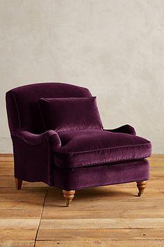 Velvet Glenlee Chair in deep burgundy  #anthropologie