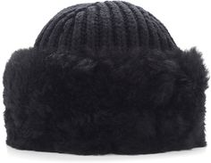 DOLCE & GABBANA BLACK CASHMERE AND ALPACA SHEARLING HAT  $1,475 by Dolce & Gabbana at MODA OPERANDI          Available Colors: Black Available Sizes: M,S DETAILS From the slopes of Verbier to the streets of New York, **Dolce & Gabbana**'s full fur hat in black offers cold-weather style emblematic of their eminently luxurious aesthetic. Crafted from cashmere with a lush alpaca shearling trim, this effortlessly cozy accessory is the perfect anchor for a sophistic
