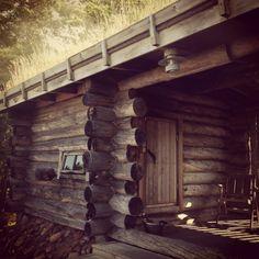 Smoke sauna on Åland Finnish Sauna, Steam Room, Fairy Gardens, Lodges, Denmark, House Ideas, Barn, Woodworking, Rustic