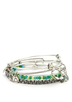 ALEX AND ANI Set of 5 Crown Bangles - Features a queen's crown charm, representing feminine power, authority, and benevolence