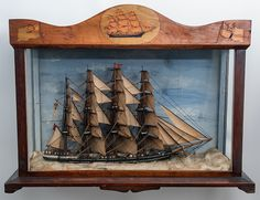 Trinity House Cased Diorama of an English Clipper