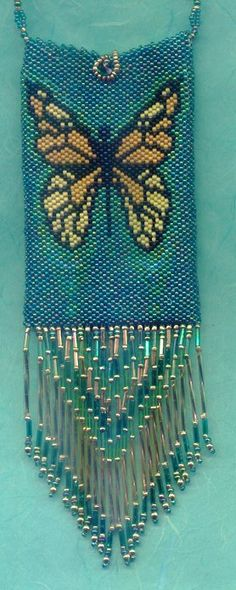 Butterfly amulet purse by Kathi Lawson, $65