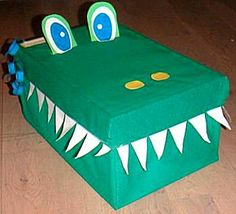 surprise croc and more - visite the site Valentines Day Activities, Craft Activities For Kids, Valentine Crafts, Valentine Boxes For School, Valentines For Boys, Tissue Box Crafts, Fun Crafts, Crafts For Kids, Dinosaur Valentines