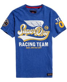 Shop Superdry Mens Famous Flyers T-Shirt in Frontier Blue. Buy now with free delivery from the Official Superdry Store. Superdry Style, Superdry Mens, Ralph Lauren, Tee Shirt Homme, Moda Casual, Travel Shirts, Herren T Shirt, Mens Clothing Styles, Classic T Shirts