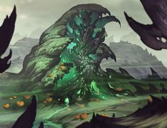 ArtStation - The castle of the toxic witch, Ksanda CreepyCrafts