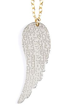 Inspirations Collection Wing Pendant Necklace
