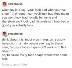 women and short hair