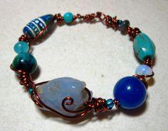 Hippie Bohemian, Hippie Style, Boho, Bangles, Beaded Bracelets, Tribal Style, Tribal Fashion, Copper Jewelry, Jewelries