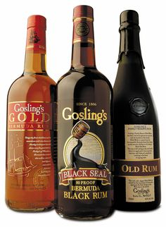 Gosling's Rums  •Muti- award winning rum.   •Synonymous with Bermuda.  •The tempest in Bermuda's favorite cocktail the Dark 'n' Stormy®.  •Gosling's is Bermuda's largest exporter of a Bermuda – made product.   •A family business for over two centuries – since 1806.   •Made from a 150-year-old Gosling's family recipe.  •Comprises of three independently aged (3-6 years) distillates aged in once-used charred American oak bourbon casks.  www.goslingsrum.com