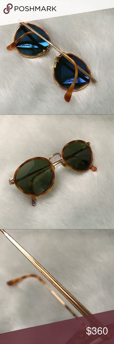 Emporio Armani true vintage sunglasses True vintage. Emporio Armani sunglasses. Gold hardware. Tortoise shell frames and ear pieces. Very cool and trendy. Emporio Armani Accessories Sunglasses