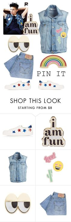 """""""Pins 2"""" by pamela-802 on Polyvore featuring Topshop, ban.do, Frame, Red Camel, Georgia Perry, Levi's and pins"""