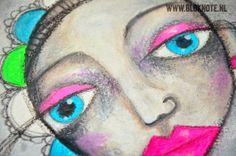 Bloknote   Blognotes by Marieke Blokland: I want #LifeBook2014 #MixedMedia #Art #Journaling #Neon