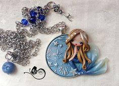 polymer clay necklace / fairy / clay / fimo / by ZingaraCreativa