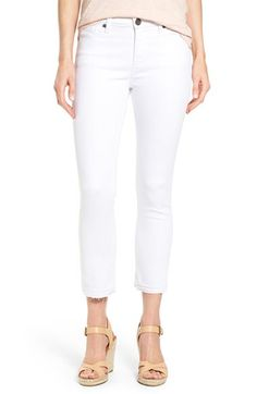 KUT from the Kloth KUT from the Kloth Reese Release Hem Stretch Ankle Jeans (Regular & Petite) available at #Nordstrom