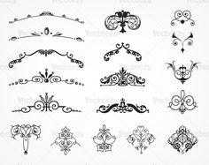 art nouveau vector ornaments - Pesquisa Google