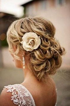 Loose Curly Updo Wedding Hairstyles