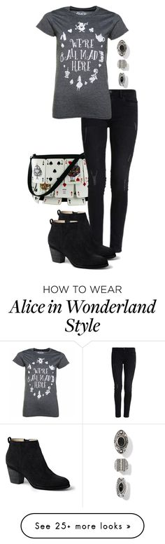 """Alice♠"" by deliag on Polyvore featuring Moschino, Lands' End and Disney"