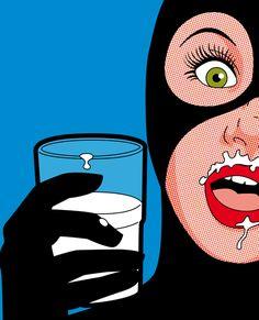 Y gatúbela, bien gata ella, toma leche