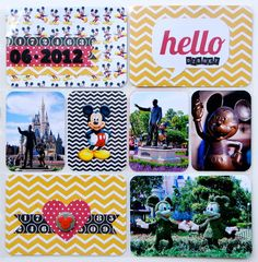 My Scrappy Life: Project Disney Title Page