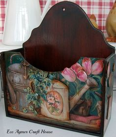 www.eceaymer.com Decoupage Furniture, Decoupage Paper, Funky Furniture, Painted Furniture, Refurbished Furniture, Tole Painting, Ceramic Painting, Fabric Painting, Painting On Wood