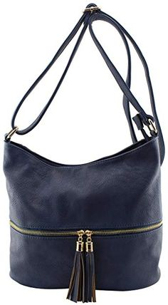 a08c903214 Faux leather womens multi pockets large crossbody bags with tassels  Crossbody  Bags