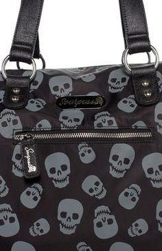 Lust for Skulls Travel Bag - The Violet Vixen Skull Purse 100ed34355a2d