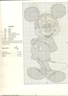 Walt Disney in counted cross stitch 6