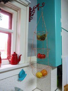 Vintage 3 Tier Wire Hanging Kitchen Basket by RavishingRetro, $24.00