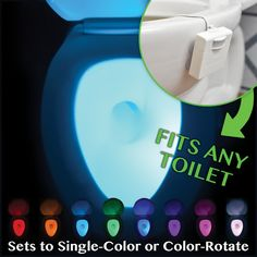$19.00 This motion-activated toilet bowl night light is the perfect gift to buy for that special someone in your life. This light will ensure the toilet is visible in the dark.