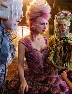 Richard E. Grant, Keira Knightley & Eugenio Derbez in The Nutcracker and the Four Realms (dir. Lasse Hallström, 2018)