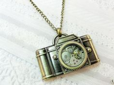 The ORIGINAL Camera Necklace  STEAMPUNK CAMERA  by birdzNbeez, $26.00