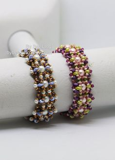 Beading Tutorial Althea Bracelet Pattern PDF | Etsy Earring Tutorial, Bracelet Tutorial, Unique Mothers Day Gifts, Gifts For Mom, Handmade Shop, Handmade Gifts, Beading Needles, Beaded Bracelets, Beaded Jewellery