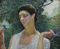 Jacek Malczewski - Diana Figurative, Poland, Mythology, Diana, Mario, Art Gallery, Faces, Europe, Portraits