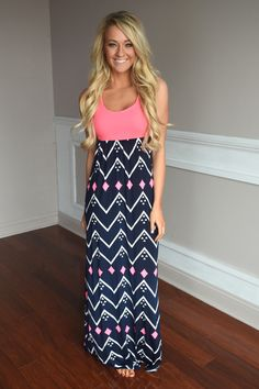 She's a Diamond Maxi ~ Pink – The Pulse Boutique Love this dress!! Be cute we some sort of jacket over it