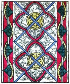 Medieval stained glass design from Chartham Church, Kent, England. Stained Glass Paint, Stained Glass Patterns, Stained Glass Windows, Medieval Stained Glass, Page Decoration, Anglo Saxon, Glass Design, Colored Glass, Art History
