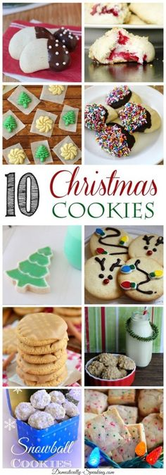 10 amazing Christmas Cookies that you will want to bake!, by Domestically Speaking